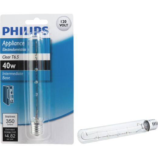 Philips 40W Clear Intermediate T6.5 Incandescent Appliance Light Bulb