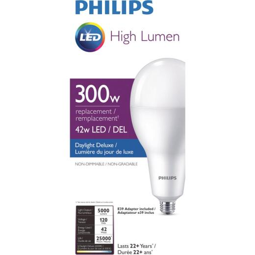 Philips 300W Equivalent Daylight A40 Medium LED Light Bulb